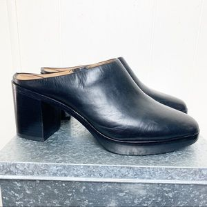 Frye Joan Campus Black Leather Mule